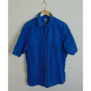 Mountain Hardwear XL Short Sleeve Shirt Blue
